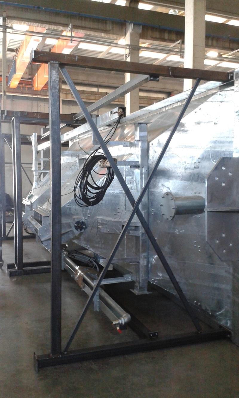 система подключения отопления  горячим воздухом для бункеров