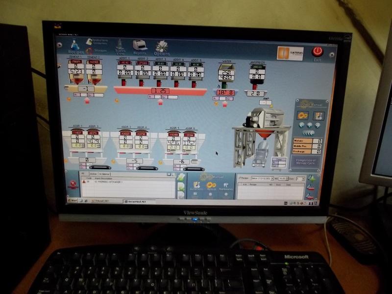 управление бетонным заводом автоматический режим