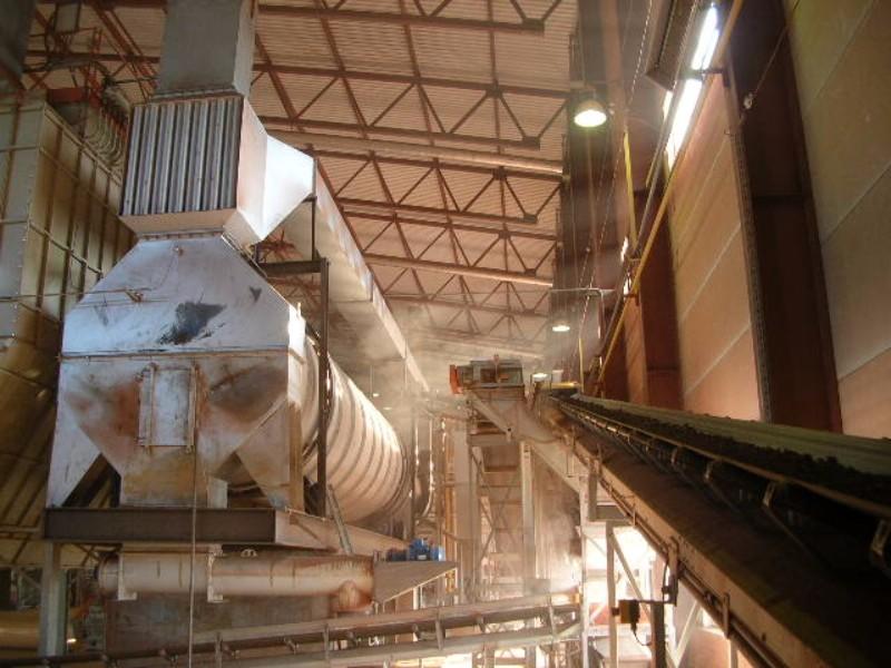Решение для сушки инертных материалов и песка. Сушильный комплекс 50 тонн/час