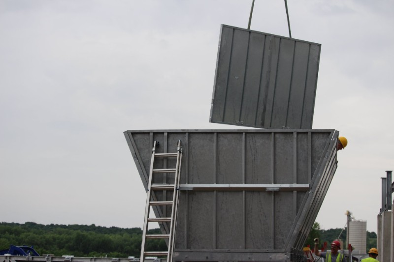 Монтаж стационарного завода для ЖБИ производства в США. Как это происходит в Америке