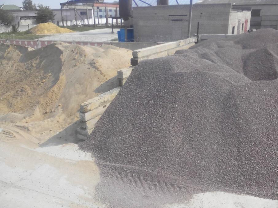 инертные материалы. Щебень и песок для производства бетона